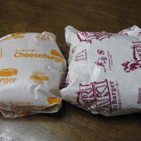 マクドナルド-チーズバーガーと、てりやきマックバーガー