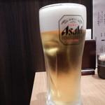 食彩わいわい村 - 生ビール中ジョッキ