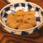 産直屋 たか - 料理写真:魚の出汁で炊いた大根 柚子胡椒風味と鰹節風味