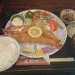 にっぽんの洋食 江戸一 - 2015/12/21 11:40訪問 エビフライ定食