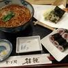 桔梗 - 料理写真:天そば定食 (天ぷら、かけそば、鉄火巻 ) 1,490円