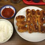 ホワイト餃子 - 15個ライス870円