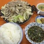 関白 - ジンギスカン焼き(豚耳)、ライス大