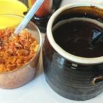 定食 稲 -  稲 @西葛西 共にお店自家製のソースと食べるラー油