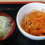 定食 稲 - 稲 @西葛西 定食に付くにんじんしりしり・浅漬け