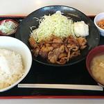 定食 稲 - 料理写真:稲 @西葛西 豚生姜焼き定食 750円(税込)