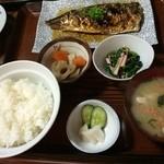 きらきら食堂 - 料理写真:bigな鯖塩!High CP !  単品の茄子天もとろける美味しさ…