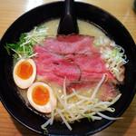 道玄 - 濃厚白湯チャーギュー麺980円+煮卵100円