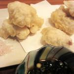 蕎麦cuisine hayakawa - 秋鮭の白子の天ぷら