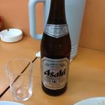 夜仲そば - 瓶ビールってうまいよね(*´д`*)500円