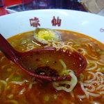 味仙 - ☆スープも辛さで汗がドヴァーっと吹き出ます(*^^)v☆