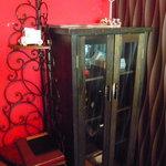 R cafe - 2階への階段を上ると可愛い棚*その上にはキャンドル♪♪