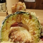 天ぷら海鮮 五福 - かぼちゃと玉ねぎといか