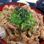 豊浜サービスエリア下り線 スナックコーナー・フードコート - 牛飯(680円)を頂きました。