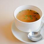 洋食 グラッチェ - ランチのスープ
