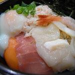 海鮮王 - 海鮮漬け温玉丼(@580円)