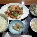 sai-蓮花 - 「宮保双丁」鶏肉と芝エビ、ネギの中国四川唐辛子炒め