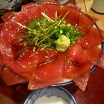 おふくと虎吉 - まぐろびっしり丼¥1280(税抜き)