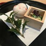 柳川はむら - ここからお料理スタートです。他のお客さんもいらしたので、料理写真はこちらのみです。