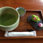 47556496 - 上生菓子・抹茶セット