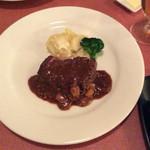 アントレ - 牛肉ステーキ シャスールソース