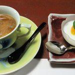 47558775 - コーヒーと杏仁豆腐