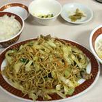 餃子の李 - 炒麺定食(柔らかい焼きそば)