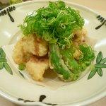 旭寿司 - 穴子ネギ醤油 天ぷら
