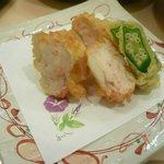 旭寿司 - 蓮根の海老はさみ揚げ