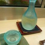 旭寿司 - お酒甘口(豊杯 純米しぼりたて)