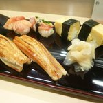 旭寿司 - 赤貝、穴子、玉子