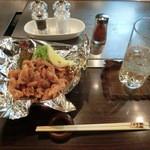 1029 - <2016年2月・初訪問>鶏かわパリパリ揚げ、580円