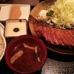 牛かつ もと村 新橋店 - 180g1700円