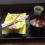 47571915 - ほっき飯とお吸物とお茶