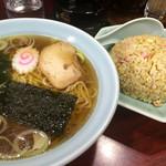 園春 - 半チャーハン&半ラーメン@650円   不動の美味さ・安さ・ボリューム!