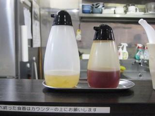自家製麺 5102 - 柚子のお酢とラー油