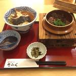 47580795 - 王寺釜飯定食…牛肉選び