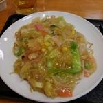 リンガーハット - □皿うどん(太麺) 730円(内税)□