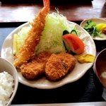 萩亭 - レディースヒレ定食!