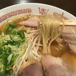 鳥勝 - 牛骨らーめん・小の麺リフト〜(*^◯^*)❤️