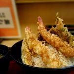 天丼専門店 てんき - 天丼セット¥500円 値引き券あれば¥50円引