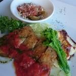 ラ・マテリエ - 料理写真:豚ロースハーブカツレツと白身魚赤味噌オーブン焼き