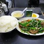中国料理 登龍 - レバニラ炒め定食680円