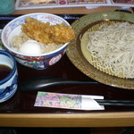 十割そば会  - 賄いセット(鳥天・半熟丼) 753円