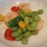 広東名菜 赤坂璃宮 - 芝海老と枝豆の炒め