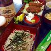 割烹食堂 水車 - 料理写真:信州長野をイメージする蕎麦とソースカツ丼のセット。