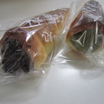 ぱん処 東海林 - チョココルネ&抹茶のコルネ