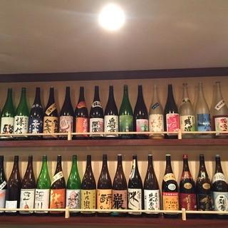 豊富な日本酒が自慢です!