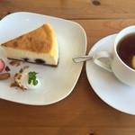 ふたばカフェ - ブルーベリーチーズケーキ