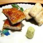 豪龍久保 - 宍道湖産天然鰻(蒲焼と白焼き)